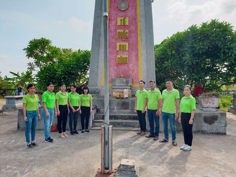 công ty pqa thăm các anh hùng liệt sĩ